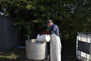 Natronlauge vorbereiten